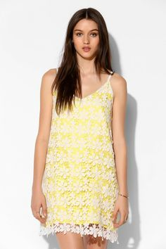 Oh My Love Crochet Lace Slip Dress