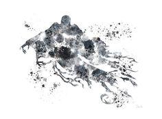 ART PRINT Dementor Harry Potter illustration 10 x 8 by SubjectArt