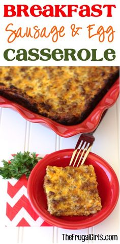 Breakfast Sausage and Egg Casserole Recipe from TheFrugalGirls.com