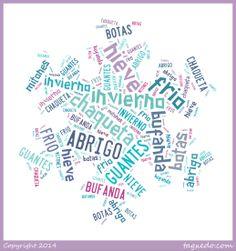 Spanish Winter Word Cloud