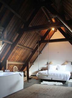 Bedroom. A swing? Yes please.