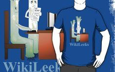 'WikiLeeks' T-Shirt by Cherie Roe Dirksen Tate Gallery, Cool Tees, Hoodies, Sweatshirts, Gifts For Him, Workplace, V Neck T Shirt, Classic T Shirts, Laughter