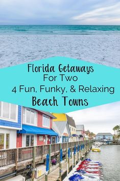 These four fun, funky, and relaxing beach towns are ideal for a Florida weekend Getaway for two. Whether you need a couples getaway or a girls trip these beach towns in Florida are a great place… Best Beach In Florida, Florida Vacation, Florida Travel, Florida Beaches, Vacation Spots, Travel Usa, Florida Trips, Destin Florida, Florida Usa