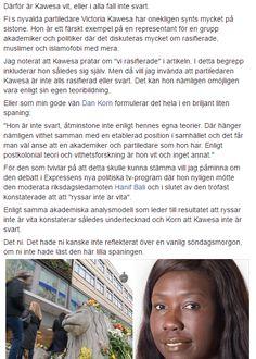 Därför är Victoria Kawesa (Fi) vit, eller i alla fall inte svart.