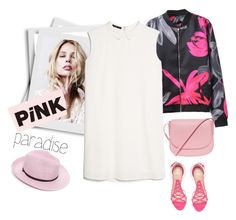 """Pink paradise.."" by gul07 ❤ liked on Polyvore featuring MANGO, Charlotte Olympia and Mansur Gavriel"
