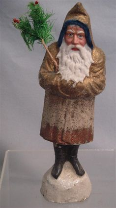 Candy Container Antique Christmas, Christmas Past, Primitive Christmas, Father Christmas, Christmas Items, Christmas Holidays, Christmas Things, Vintage Candy, Vintage Santas