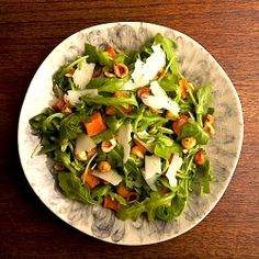 Roasted pumpkin and winter squash make delicious additions to fall salads.