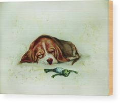 Sleeping Puppy and Sleeping Froggy Wood Print by Elena Vedernikova. All wood prints are professionally printed, packaged, and shipped within 3 - 4 business days and delivered ready-to-hang on your wall. Choose from multiple sizes and mounting options. Art Prints For Home, Sand Sculptures, Sand Art, Got Print, Unique Art, Fine Art America, Wave, Sleep, Puppies