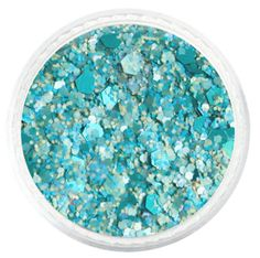 Blue Summer Breeze Custom Mixed Glitter – Solvent Resistant Glitter from Glitties Nail Art Online Store #solvent #resistant #glitter