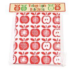 Pack of 4 Vintage Apple Kitchen Cloths