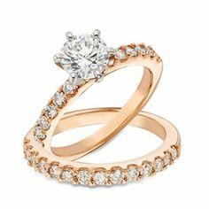 14kt Rose Gold Bridal Set
