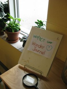 wonder journal. cute idea! // transforming our learning environment into a space of possibilities blog.