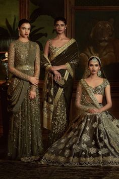 FIRDAUS by Sabyasachi Photography: Tarun Khiwal Models: Archana Akhil Kumar, Vishakha Bharadwaj & Rasika Navare
