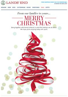 "Email Newsletter | Lands' End ""Holiday Letter"" #newsletter #email #design"