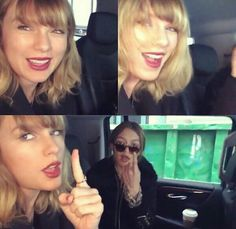 "Taylor swift and Gigi Hadid singing "" I don't want to live forever"""