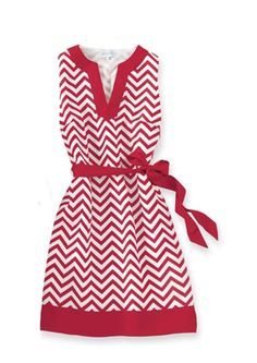 Burgundy and White Chevron Print Sleeveless Game Day Dress - ohio state game  day e5c1eb44c