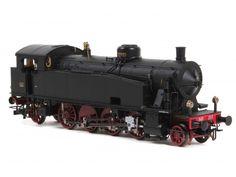 HR2471 Locomotiva a vapore Gr.940.053 ex SFB con fanali elettrici e vomere rigido, camino piccolo.