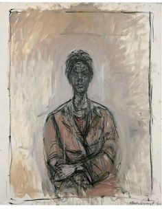 Alberto Giacometti Caroline, 1961 Oil on canvas, 100 x 82 cm Signed and dated bottom right: Alberto Giacometti 1961 Photo: Robert Bayer, Basel Alberto Giacometti, Giacometti Paintings, Art Paintings, Figure Painting, Painting & Drawing, National Portrait Gallery, Art World, Figurative Art, Lovers Art