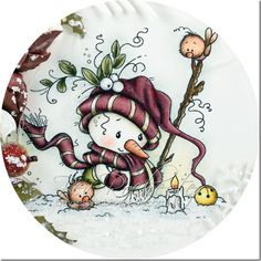 It's the last day of the September Whimsy Stamps release, so don't forget to pop across to join in the fun over in the Whimsy Stamps and I. Christmas Makes, Christmas Snowman, Christmas Ornaments, Christmas Drawing, Christmas Paintings, Rock Crafts, Diy And Crafts, Whimsy Stamps, Snowman