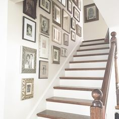 """Just added some new """"old"""" family photos to our gallery wall. Five generations on…"""