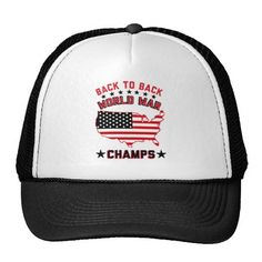 BACK TO BACK WORLD WAR CHAMPIONS, TRUCKER HAT. GET IT ON : http://www.zazzle.com/back_to_back_world_war_champions_trucker_hat-148855537214265368?rf=238054403704815742