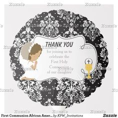 Shop First Communion Blonde Girl Black Damask Balloon created by KPW_Invitations. Blonde Boys, Brunette Girl, Helium Gas, Photo Balloons, First Communion Invitations, Balloon Shapes, African American Girl, Custom Balloons, First Holy Communion