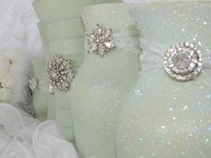 Weddings, Wedding Centerpiece, Wedding Decorations, Sage Wedding, Moss Green, Mint Green, Green Wedding Reception, Bridal Shower, Baby. $39.00, via Etsy.
