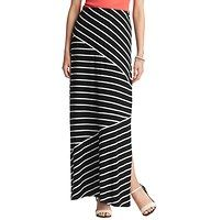 """Pieced Stripe Maxi Skirt - Unforgettably cool, we pieced together chic diagonal stripes for an incredibly flattering, body skimming result. Elasticized waist band. Side slit. 38"""" long. Loft Outfits, Striped Maxi Skirts, Summer Skirts, Navy And White, Autumn Fashion, My Style, Clothes, Fall Styles, Comfy"""