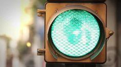 Green Traffic Light by Maradonas_land Macro shot of a green traffic light in the city.