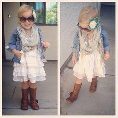 Baby girl boho/bohemian style. Baby girl/ toddler fall fashion ...