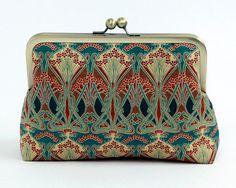 Cosmetic bag Art Nouveau Ikat Liberty of London Print by BagNoir (Bridesmaid gift)