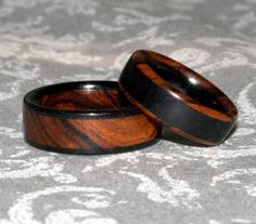 Wooden Rings  Custom Set Made to Order by MnMWoodworks on Etsy, $70.00