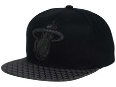 2b4367672d5bc Miami Heat Mitchell and Ness NBA Reflective Iridescent Snapback Cap Hats  Miami Heat