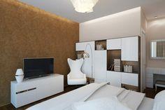 Apartament de 60 mp cu 2 camere în nuanțe de bej-maro - Edifica Design Case, Loft, House Design, Modern, Furniture, Design Interior, Home Decor, Trendy Tree, Decoration Home