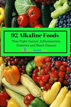 Alkaline diet is simply a diet that relies heavily on nutrients derived from vegetables and other natural foods. Anyone can benefit from such a diet so with that in mind here are several alkaline foods that you can start adding to your diet. Alkaline Diet Recipes, Acidic Foods, Cancer Fighting Foods, Cancer Foods, Colon Cancer, Inflammatory Foods, Heart Healthy Recipes, Diabetic Recipes, Natural Foods