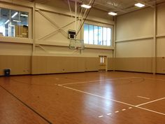 Tarkett Sports Omnisports 6.5 in Gunstock Oak at Medaille College in the Sullivan Center addition. Installation completed in 2012.
