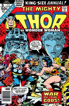 January 2019 at – New Pin : Thor vs. Two Kingdoms in a battle for supremacy! – art by Jack Kirby! on Board: Marvel Comics – Thor – Comics In France Marvel Dc, Marvel Comics, Dc Comic Books, Comic Book Covers, Comic Book Characters, Wonder Woman, Frank Miller Comics, Jack Kirby Art, Crossover