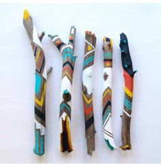 Items similar to Painted Sticks /// Spirit Sticks on Etsy - Dekoration Ideen Kids Crafts, Diy And Crafts, Arts And Crafts, Spirit Sticks, Painted Driftwood, Driftwood Crafts, Painted Wood, Painted Branches, Driftwood Ideas