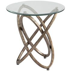 Inspired by whirling gyroscopes, this champagne metal round end table will set your home decor in motion. Retro-modern gyroscopic round end table. Style # at Lamps Plus. Metal End Tables, Fine Furniture, Contemporary Interior, Home Decor Inspiration, Home Accents, Decoration, Home Furnishings, Glass, Champagne Colour