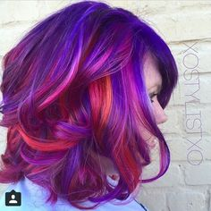 Love the mix of purples and oranges.
