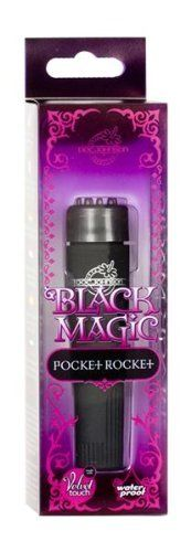 Black Magic Pocket Rocket Massager by Doc Johnson Enterprises. $9.58. Waterproof, Phthalate Free, Multi Speed. Let Doc Johnson cast a sexy spell that will leave you breathless and enchanted. The Black Magic Collection is the sexiest new look in toys and a must in all toy boxes. Available in individual pieces, or together in this brand new amazing and enticing kit. Black Magics 7 Velvet-Touch massager is multi-speed and waterproof. Or will it be our Black Magic Bullet - Four...
