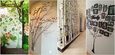 Decoratiuni pentru perete in forma de pomi Decoratiuni pentru perete: Daca doresti sa iesi din monotonie cu un design cu totul special pentru dormitor, te sfatuim sa folosesti aceste decoratiuni pentru perete in forma de pomi.