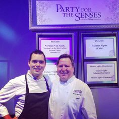 "Chef Norman and Chef Andy participated in Epcot's ""Party for the Senses"" Saturday night!  Our Cuban ""Mollette"" with Gale Street-style slaw was a hit! #normansorlando #normanvanaken #epcotfoodfestival #disney"