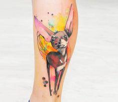 Chihuahua tattoo by Aleksandra Katsan
