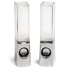 ThinkGeek :: Light Show Fountain Speakers