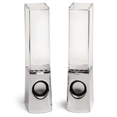 ThinkGeek :: Light Show Fountain Speakers $49.99 Plug in your tunes and watch the light show happen!