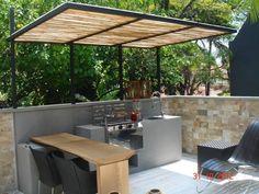 Pergola Ideas For Patio Patio Pergola, Backyard Patio, Backyard Landscaping, Backyard Kitchen, Outdoor Kitchen Design, Parrilla Exterior, Backyard Sitting Areas, Terrasse Design, Verge