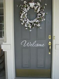 Vinyl welcome sign for front door & French Wall Panel Proportions | Double French Doors Wallpaper ... Pezcame.Com