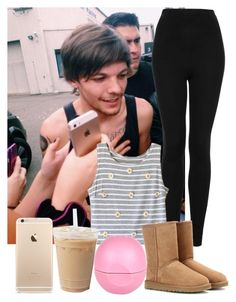 """""""Lazy day with Louis"""" by sychie ❤ liked on Polyvore featuring Topshop, UGG Australia and River Island"""