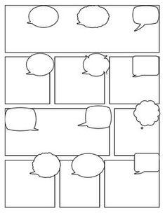 Blank Comic Strip Cartoon Template, Comic Strip Template, Comic Strips, Blank Comic Book, Best Comic Books, Comic Books Art, Writing Lessons, Art Lessons, Comic Tutorial